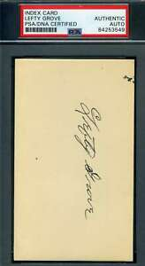 Lefty-Grove-PSA-DNA-Coa-Autograph-Hand-Signed-3x5-Index-Card
