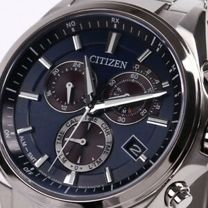 CITIZEN-ATTESA-Eco-Drive-Chronograph-AT3050-51L-Men-039-s-Watch-New-in-Box