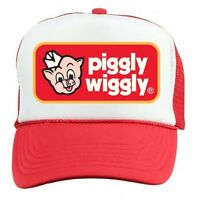 Piggly Wiggly Trucker Cap Retro 70s 80s Vintage Snap Back Red Free Ship