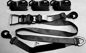 4-Axle-Straps-Race-Car-Trailer-Hauler-Ratchet-Tie-Down-Strap-Towing-Tow-QUALITY