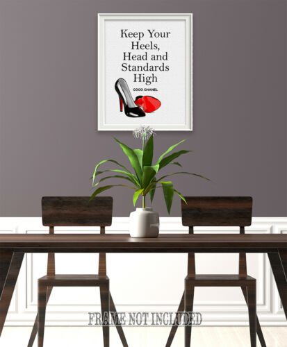 Poster Unframed Poster or Canvas Keep Your Heels Head and Standards High