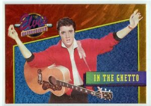 Elvis-Collection-034-In-the-Ghetto-034-Dufex-Foil-Card-25-of-40
