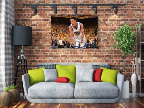 Stephen Curry Golden State Warriors Painting Canvas Print Art Home Decor Wall