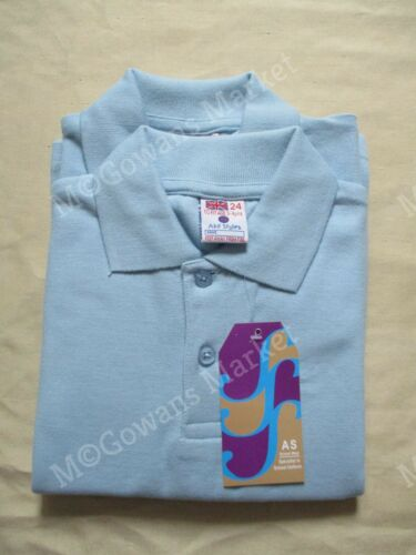 Sizes 3-12 Years Twin Pack Boys Blue School Polo Shirt