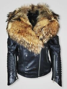 Women-s-Black-colored-leather-jacket-with-Real-Fur-Collar