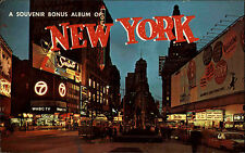 New York Amerika USA ~1960/70 Hotel Astor Kino Cinema Dr. No Werbung Neon Street