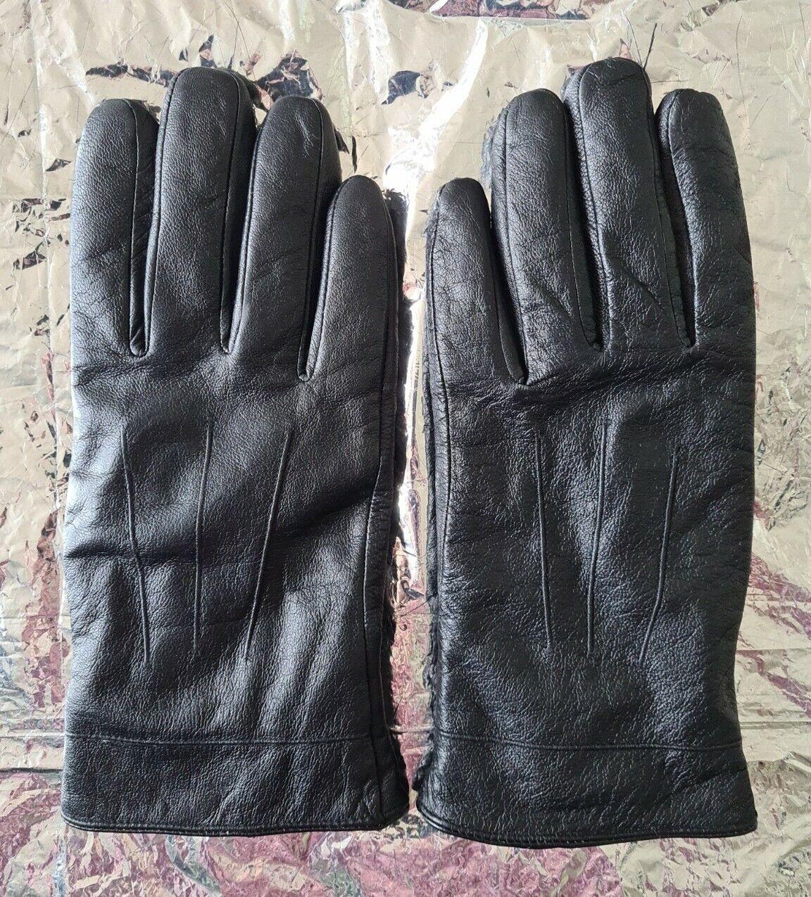 Birreti GLOVES Black Leather Size 12