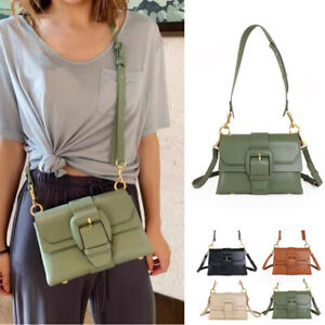 2-Flaps-Real-Leather-Wide-Strap-Small-Mini-Satchel-Shoulder-Bag-Crossbody-Purse