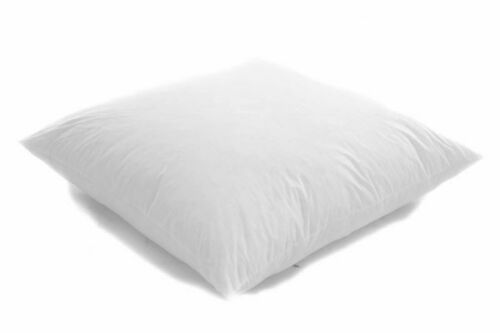 65cm x 65cm Square Euro Continental Bounce Back White Cotton Pillow Ball Fibre