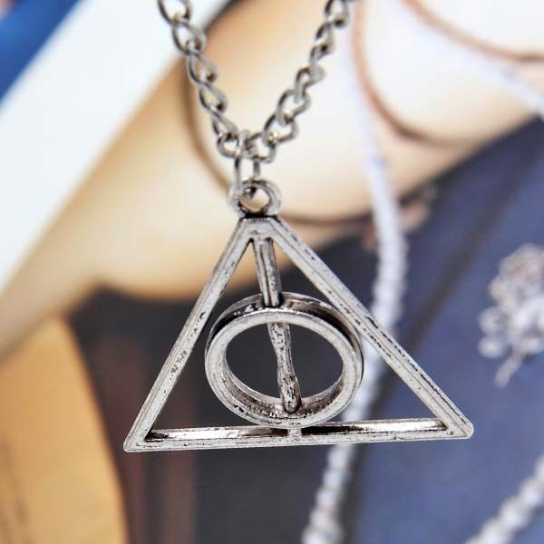 1Metal Silver Harry Potter Magic Deathly Hallows Necklace Pendant For Collection
