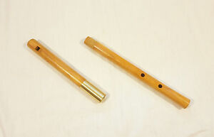 Wooden Tabor Pipe, One-handed recorder, 3 hole flute - in low G - tunable