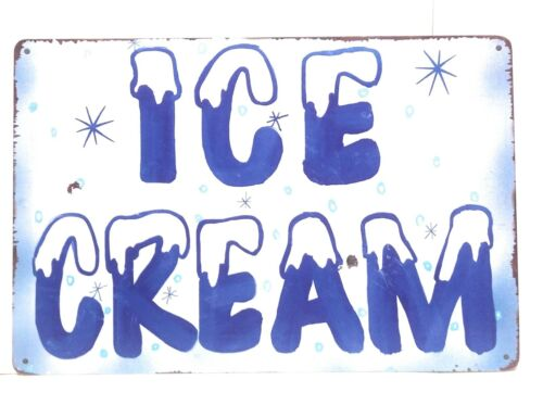 Business Sign Vintage Sign Retro Sign Ice Cream Metal Tin Sign 8-in by 12-in