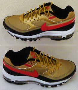Hybrid Nike Air Max 97 Bw Metallic Gold Black Red Mens Us Size 6