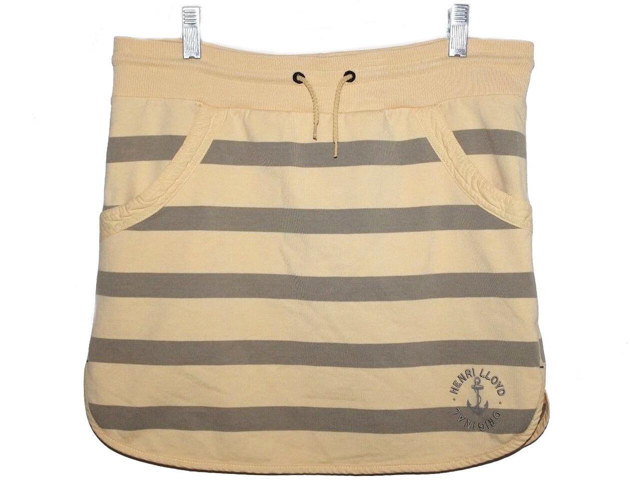 Henri Lloyd Women's US 6 () - Yellow Striped Drawstring Knit Mini Skirt