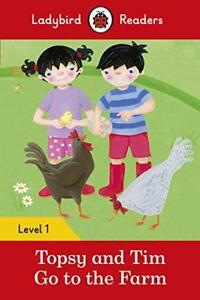 Topsy-and-Tim-Go-to-the-Farm-Ladybird-Readers-Level-1-by-Paperback-Book