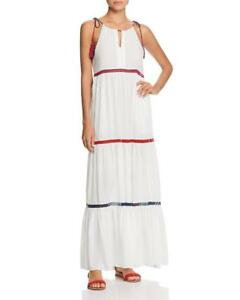 3b60e9cda5 NWT Red Carter In Stitches Tiered Maxi Dress Swimsuit Cover Up  165 ...