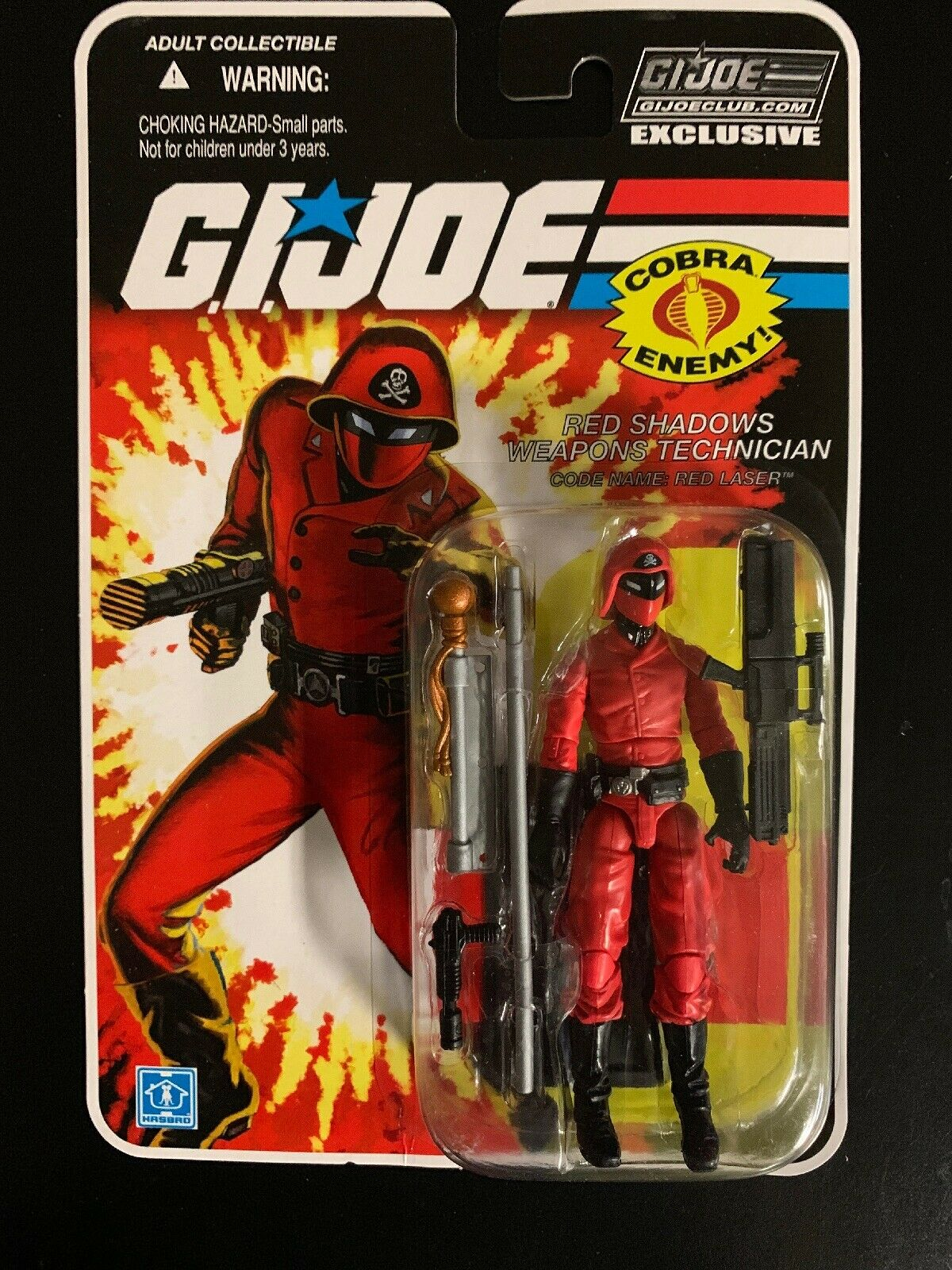 Gi Joe FSS 8.0 02 Laser Rojo Rojo Sombras armas técnico Menta en paquete sellado