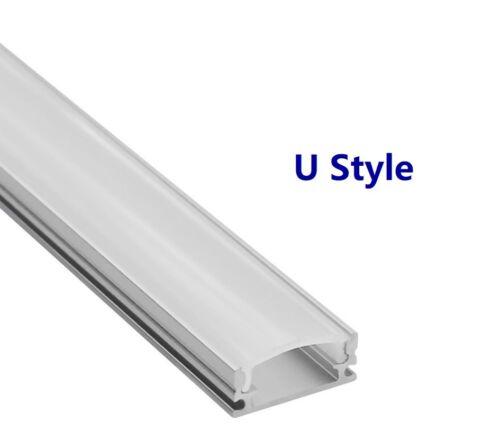 Clips End caps 5X1.0M OR 2.0M Aluminium LED Strip Light Channel Profile