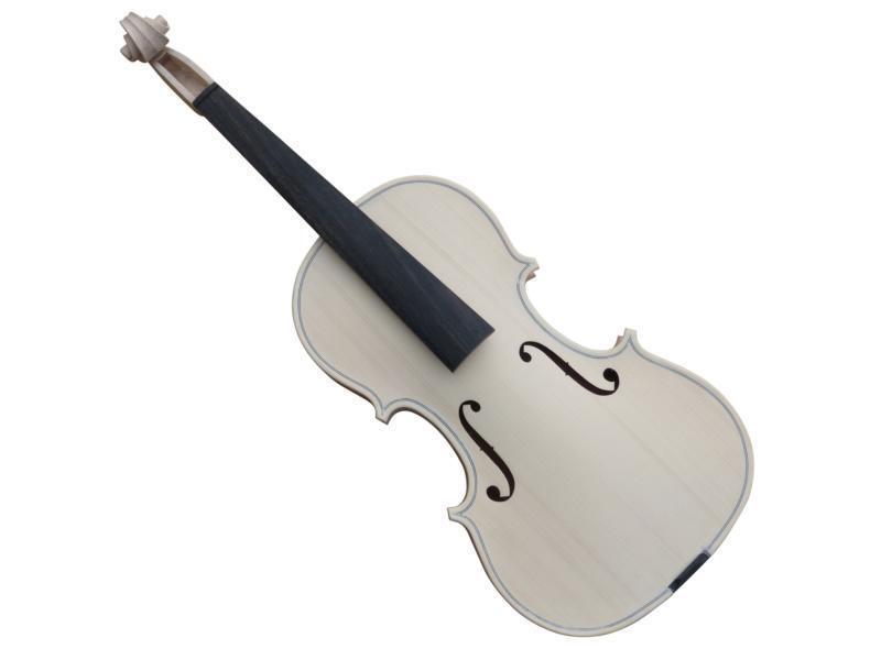 4 4 Geige Weissware (Rohling) neu, schön geflammt