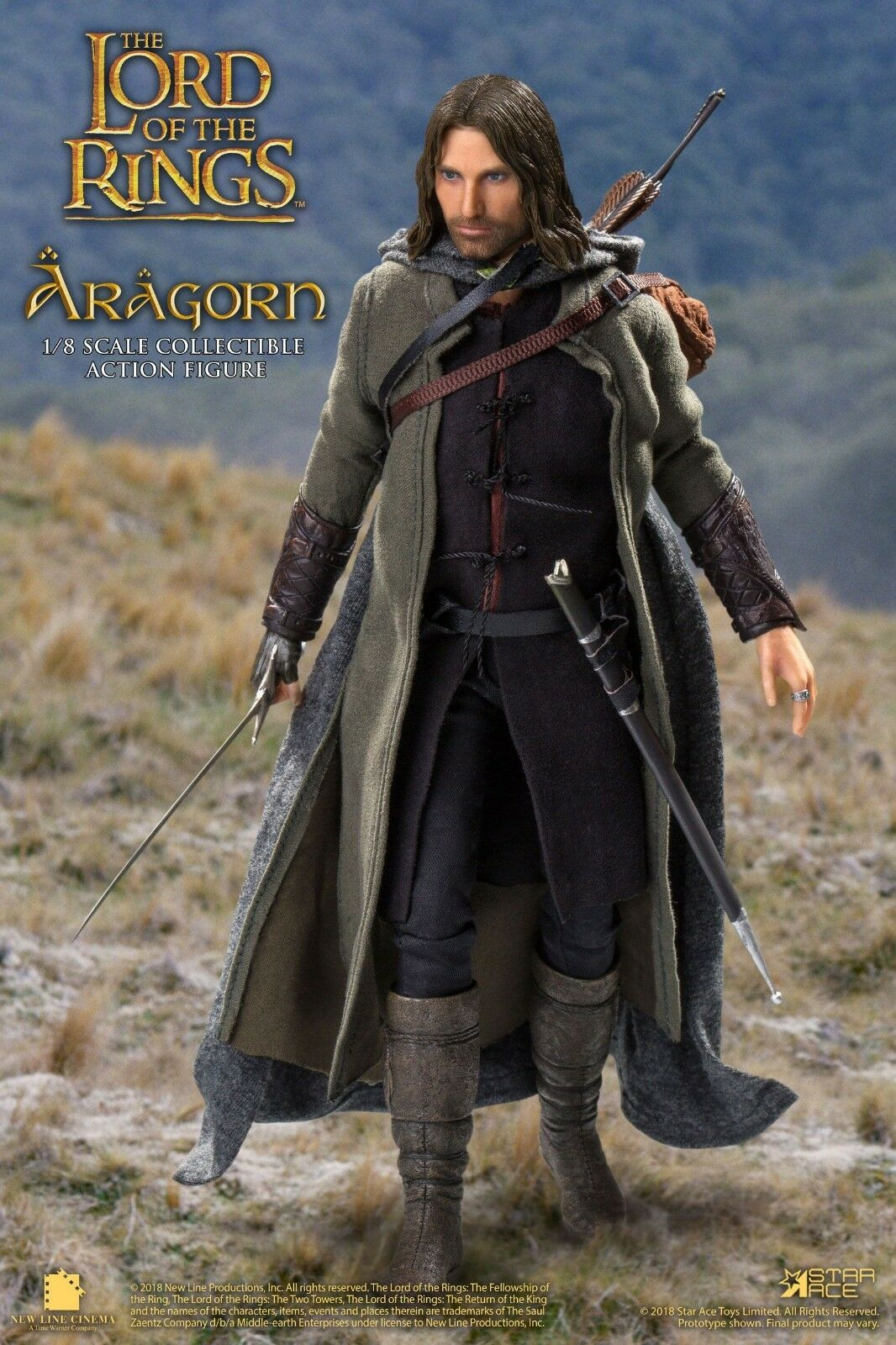 PREORDINE Lord of the Rings Real Master Series Af 1/8 Aragon Deluxe