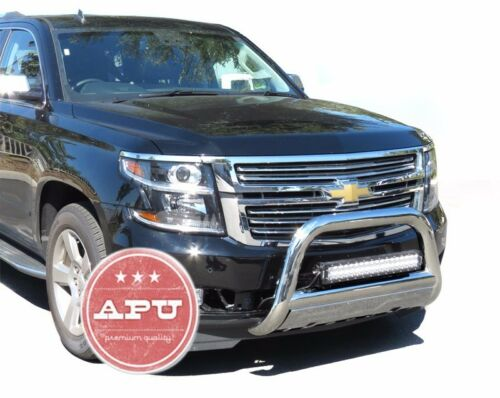 APU fits 15-18 Escalade Bull Push Bar Stainless Bumper Grille Guard Protector