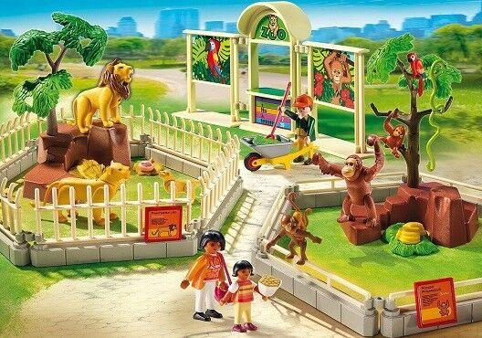 Playmobil City Life 5969 Zoo avec famille de lions et singes