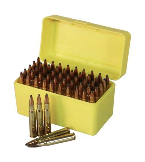 NEW Plastic Rifle Ammunition Box - 50rnd Capacity - 243, 308 etc. Ammo Storage
