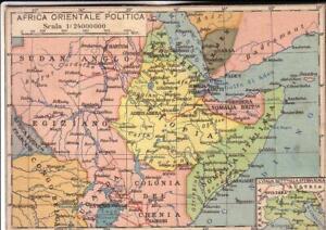 Cartina Giografica Africa.Cartolina Colonie Africa Cartina Geografica Vedere Ebay
