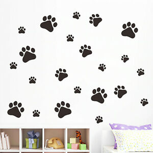 Image Is Loading Paw Print Wall Vinyl Stickers Kids Rooms Decal