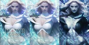 MARVEL-COMICS-1000-ARTGERM-VARIANT-TRADE-DRESS-VIRGIN-BLACK-QUEEN-VIRGIN-SET