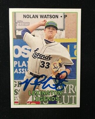 2016 Topps Heritage Minor League Edition Real One Autographs # Nolan Watson Auto