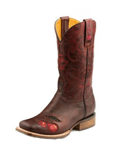 """Tin Haul Western Boots Womens 11/"""" Skull Roses Sole 14-021-0077-1401 RE"""
