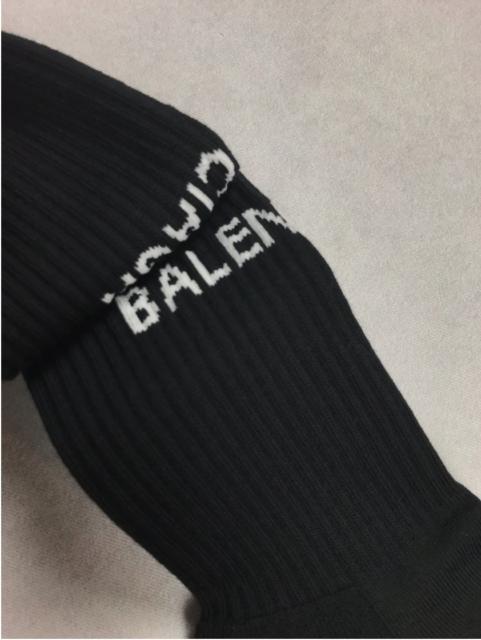 Balenciaga Ribbed Logo Black Socks