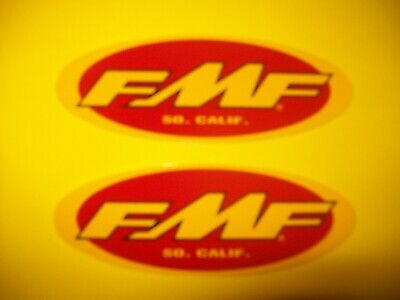 Two Genuine FMF Racing Team Sponsor Logos Decals Stickers Flying Machine Factory
