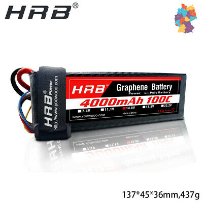 2pcs HRB Lipo Batterie 1500mAh 4S 14,8V 100C XT60 für FPV Racing RC Quadrocopter