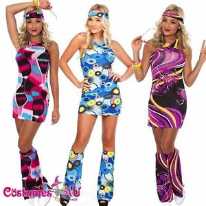 Ladies-60s-70s-Retro-Hippie-Costume-1960s-1970s-Go-Go-Girl-Disco-Fancy-Dress