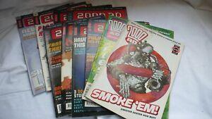 Sci-Fi-Comic-Collection-Job-Lot-Comics-Judge-Dredd-2000AD-Mixed-Issues-x-10