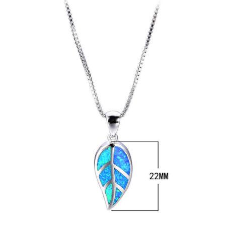 S08 hoja azul fuego Opal plateado remolque con cadena