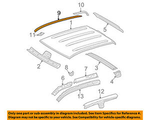 SIDE DRIP MOLDING TOYOTA TUNDRA DOUBLE CAB FACTORY OEM 75552-0C050 NEW ROOF LH