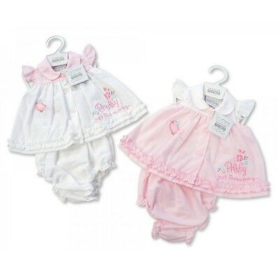 premature Baby Preemie Girl Clothes 3 piece set Top Trouser Hat Pink//Cream 5-8lb