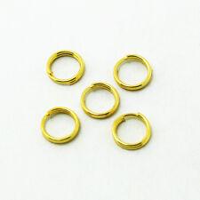 50 Anneaux double de jonction Doré 6mm, Creation bijoux, colier, .... 6 mm