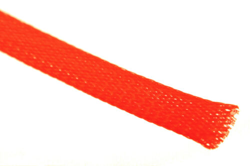 Servo Regler Gewebeschlauch Geflechtschlauch Kabelschutz Ø10mm in Neon Rot z.B