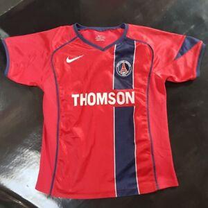 Maillot-jersey-maglia-camiseta-trikot-shirt-PSG-neymar-pauleta-2005-2006-8-ans
