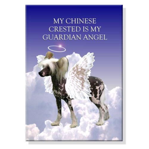 CHINESE CRESTED Guardian Angel FRIDGE MAGNET New DOG