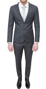Vestiti Eleganti Uomo Grigio.Completo Abito Uomo Diamond Sartoriale Grigio