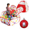 Portable Kids Indoor Outdoor Play Tent Crawl Tunnel Set 3 in 1 Ball Pit Tent US