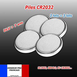 Lot-4-Piles-bouton-CR2032-CR-2032-Lithium-PC-calculatrice-telecommande-voiture
