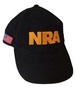 NRA Official Black Flag Fill Hat Cap