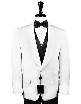 50 Regular Mens Classic White 2 Button Tuxedo Dinner Jacket Mason Shriner Cruise