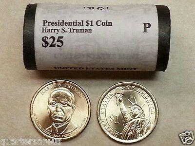 Head//Tail~ 2015 D MINT HARRY S TRUMAN PRESIDENTIAL $25 DOLLAR ROLL UNCIRCULATED